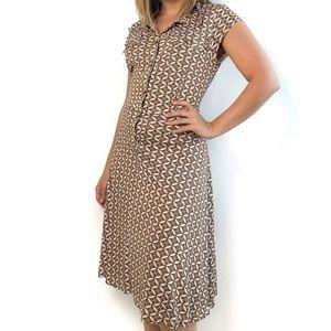 Mara Hoffman Tile Print Fit and Flare Dress
